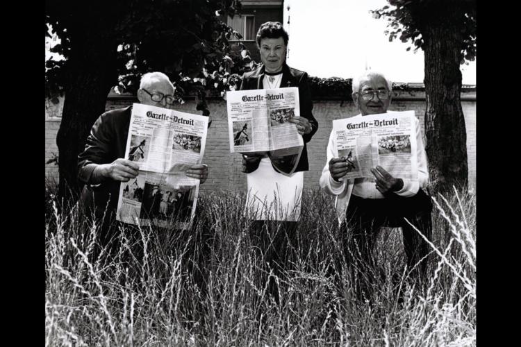 In augustus 2014 precies honderd jaar oud, is de Gazette van Detroit de laatste overgebleven Vlaams-Amerikaanse krant. [ADVN, VFC590]