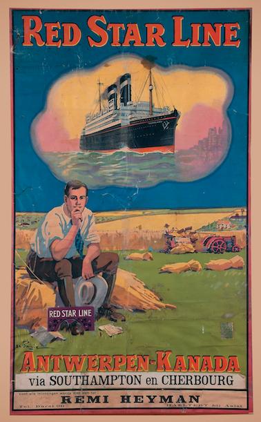 Vanaf 1873 brachten schepen van de Red Star Line landverhuizers van Antwerpen naar de Verenigde Staten. In 1912 begon de rederij ook met een rechtstreekse vaart op Canada